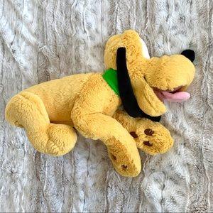 Disney Land Pluto Fuzzy Plush Stuffed Animal Dog